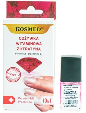 Smalto vitaminico con cheratina - Kosmed Colagen Nail Protection 10in1