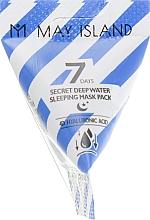Profumi e cosmetici Maschera idratante all'acido ialuronico, da notte - May Island 7 Days Secret Deep Water Sleeping Mask Pack