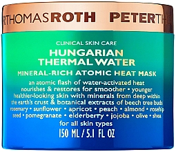 Profumi e cosmetici Maschera viso antietà - Peter Thomas Roth Hungarian Thermal Water Mineral-Rich Atomic Heat Mask