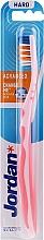 Profumi e cosmetici Spazzolino da denti, duro, senza cappuccio, rosa-arancio - Jordan Advanced Toothbrush