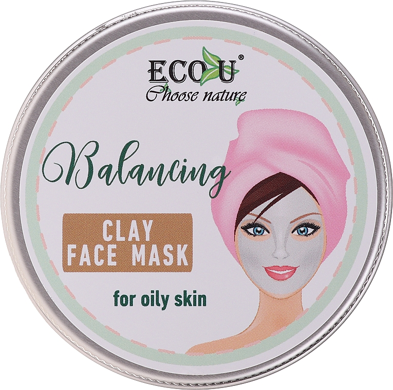 Maschera viso riequilibrante all'argilla per pelli grasse - Eco U Balancing Clay Face Mask For Oily Skin