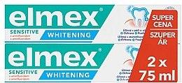 Profumi e cosmetici Set - Elmex Professional Sensitive Whitening Teeth (toothpaste/2x75ml)