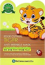 Profumi e cosmetici Maschera in tessuto nutriente - Belleza Castillo Edge Cutimal Tiger Anti-Wrinkle Mask