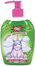 "Profumi e cosmetici Gel doccia per bambini ""Unicorno, arcobaleno"", punch all'uva - Chlapu Chlap Bath & Shower Gel"