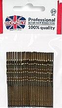 Profumi e cosmetici Forcine ondate, bronzo 60 mm, 24 pz. - Ronney Bronze Hair Bobby Pins