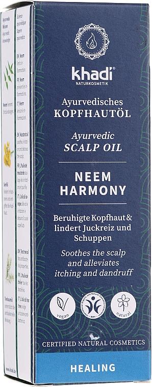 Olio ayurvedico per il cuoio capelluto - Khadi Ayurvedic Scalp Oil Neem Harmony