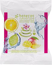 Profumi e cosmetici Salviettine umidificate detergenti - Benecos Natural Care Happy Cleansing Wipes