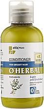 Profumi e cosmetici Condizionante per capelli grassi con estratto di menta - O'Herbal