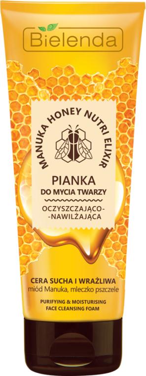 Schiuma detergente viso idratante - Bielenda Manuka Honey Nutri Elixir Facial Foam