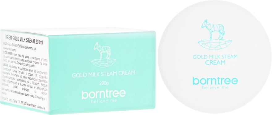 Crema viso nutriente - Borntree Gold Milk Steam Cream — foto N1