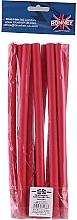 Profumi e cosmetici Bigodini flessibili professionali 12/240, rosso - Ronney Professional Flex Rollers