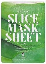 "Profumi e cosmetici Maschera viso ""Aloe Vera"" - Kocostar Slice Mask Sheet Aloe"