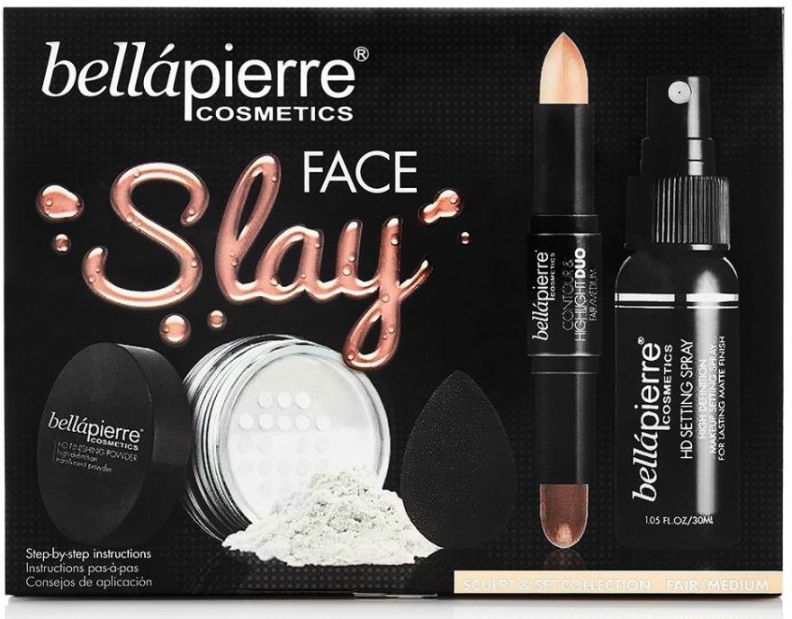Set - Bellapierre Face Slay Kit Fair/Medium (stick/8.6g + powder/6.5g + spray/70ml + sponge/1pcs) — foto N1