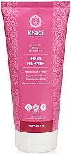"""Profumi e cosmetici Shampoo per capelli """"Rose"""" - Khadi Shampoo Rose Hair Repair"""