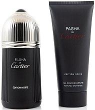 Profumi e cosmetici Cartier Pasha de Cartier Edition Noire - Set (edt/100ml + sh/gel/100ml)