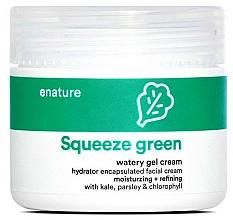 Profumi e cosmetici Gel-crema viso  - E-Nature Squeeze Green Watery Gel Cream Moisturizing + Refining