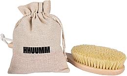 Profumi e cosmetici Spazzola per massaggio corpo in fibra tampico, extra lunga - Hhuumm № 5