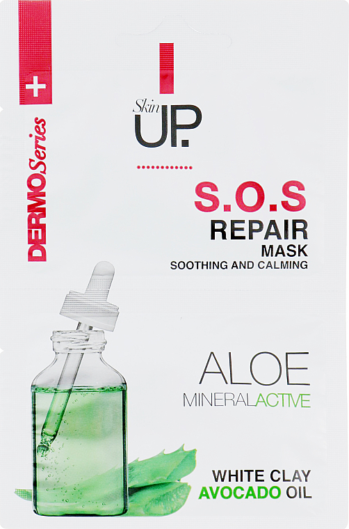 Maschera viso rivitalizzante - Verona Laboratories DermoSerier Skin Up S.O.S Repair Soothing and Calming Face Mask