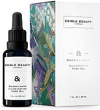 Profumi e cosmetici Olio viso illuminante - Edible Beauty Snowflower Illuminating Face Oil