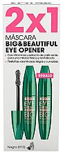 Profumi e cosmetici Set - Astor Big & Beautiful Eye Opener Set (mascara/2x12ml) (910 -Black)