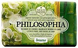 Profumi e cosmetici Sapone naturale con scorze di cedro, basilico rosso e lime - Nesti Dante Philosophia Breeze