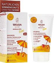Profumi e cosmetici Crema solare per pelli sensibili - Weleda Edelweiss Baby&Kids Sun SPF 30
