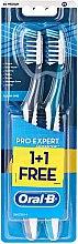 """Profumi e cosmetici Set di spazzolini """"All in one"""" , 40 medio duro, grigio + blu - Oral-B Pro-Expert CrossAction All in One"""