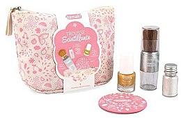 Profumi e cosmetici Set - Namaki Glitter Kit (polish/7.5ml+nail/powder/7g+brush+mirror+acc)