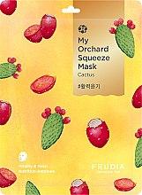 Profumi e cosmetici Maschera rivitalizzante in tessuto con cactus - Fruida My Orchard Squeeze Mask Cactus
