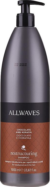 Shampoo capelli con cioccolato e cheratina - Allwaves Shampoo Chocolate and Keratin Weakened Thin Hair