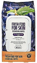 """Profumi e cosmetici Salviette detergenti viso """"Uva"""" - Superfood For Skin Fresh Food Facial Cleansing Wipes"""