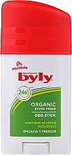 Profumi e cosmetici Deodorante stick - Byly Organic Extra Fresh 48h Deodorant Stick