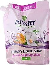 """Profumi e cosmetici Sapone liquido """"Jasmine and ylang-ylang"""" - Apart Natural Jasmine & Ylang Ylang Soap (doypack)"""