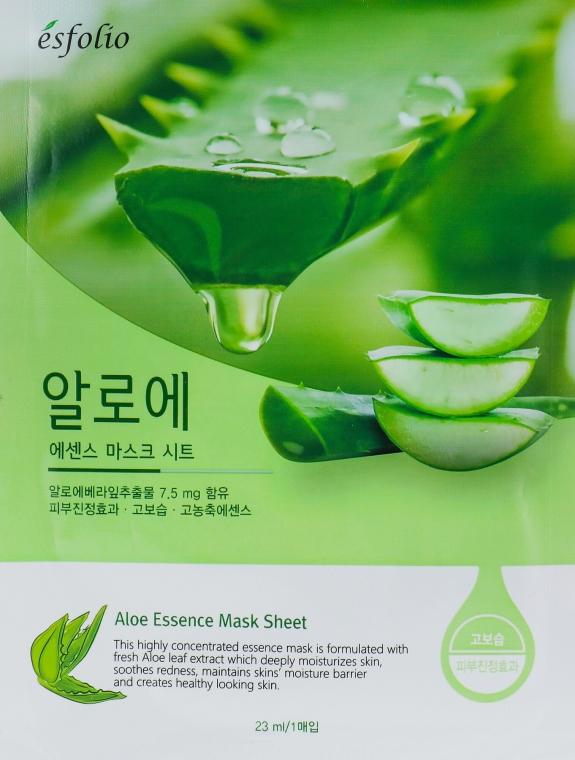 """Maschera in tessuto """"Estratto di aloe vera"""" - Esfolio Aloe Essence Mask Sheet"""