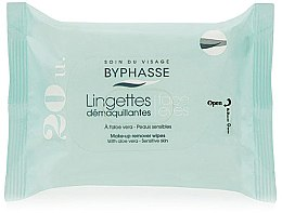 Profumi e cosmetici Salviette struccanti, 20 pz - Byphasse Aloe Vera Make-up Remover Wipes Sensitive Skin