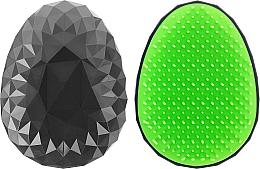Profumi e cosmetici Spazzola per capelli, nera con denti verde chiaro - Twish Spiky Hair Brush Model 2 Midnight Black