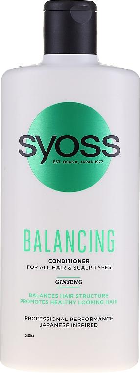 Balsamo al ginseng per tutti i tipi di capelli e cuoio capelluto - Syoss Balancing Ginseng Conditioner