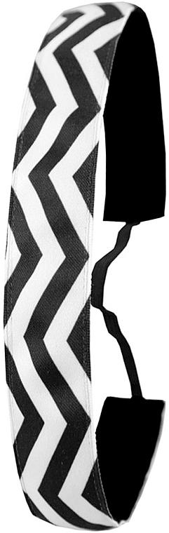 Fascia per capelli, bianco e nero - Ivybands Chevron Black White Hair Band