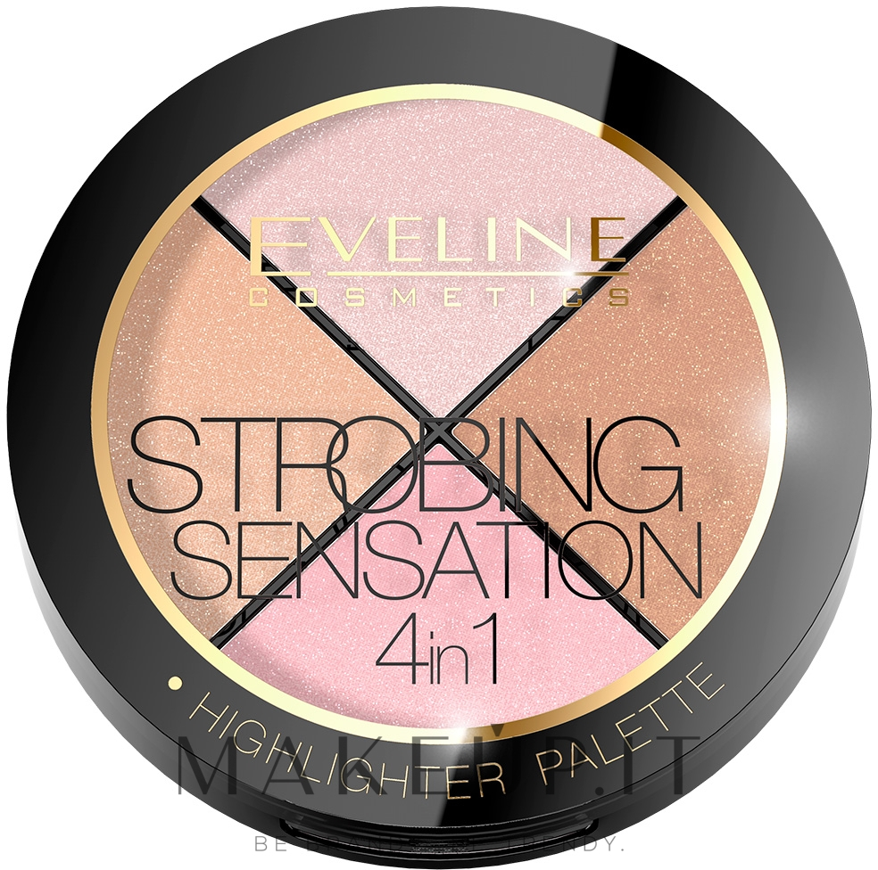 Tavolozza strobing - Eveline Cosmetics Strobing Sensation 4in1 — foto 12 g