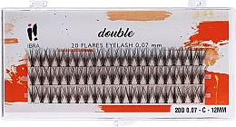 Profumi e cosmetici Ciglia finte a ciuffetti, C 12 mm - Ibra 20 Flares Eyelash Knot Free Naturals