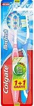 """Profumi e cosmetici Set di spazzolini da denti di media durezza """"Max Fresh"""", blu e rosa - Colgate Max Fresh Medium (2 pz)"""