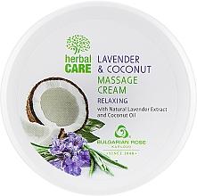 Profumi e cosmetici Crema da massaggio con effetto rilassante - Bulgarian Rose Herbal Care Lavender & Cococnut Massage Cream