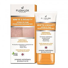 Crema mani sbiancante - Floslek White & Beauty Anti-Aging Hand Cream — foto N1