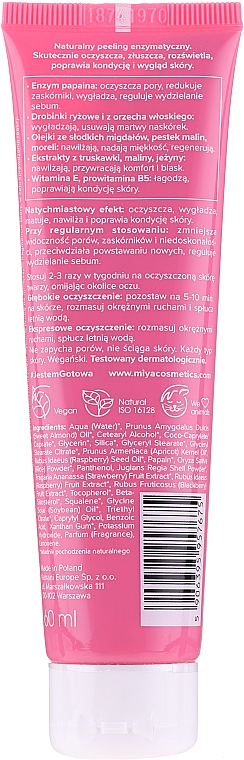 Peeling viso agli enzimi naturali - Miya Cosmetics My Beauty Peeling — foto N2