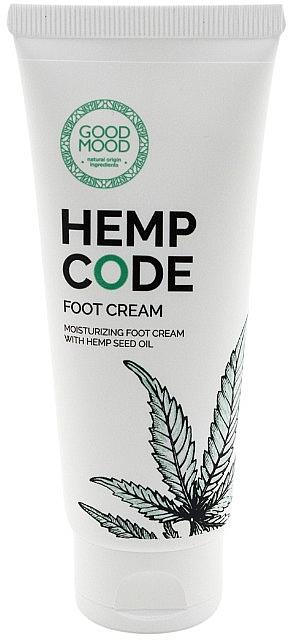 Crema piedi idratante all'olio di canapa per pelli secche e normali - Good Mood Hemp Code Foot Cream — foto N1