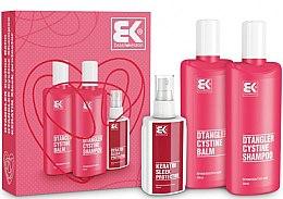 Profumi e cosmetici Set - Brazil Keratin Dtangler Cystine (sh/300ml + balm/300ml + spray/100ml)