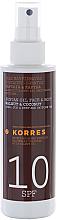 Profumi e cosmetici Olio abbronzante, SPF 10 - Korres Clear Sunscreen Body Face Walnut Coconut Oil SPF10