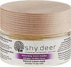Profumi e cosmetici Crema-maschera anti-età naturale, da giorno e notte - Shy Deer Natural Cream-mask