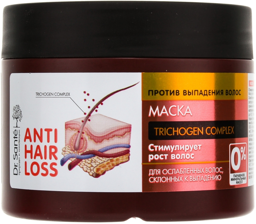 Maschera anticaduta - Dr. Sante Anti Hair Loss Mask