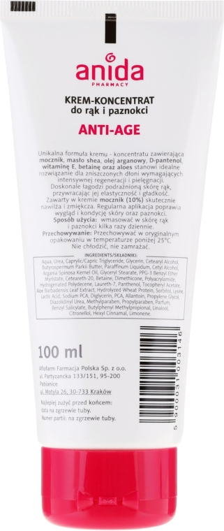 Crema mani e unghie - Anida Pharmacy Anti Age Hand Cream — foto N2